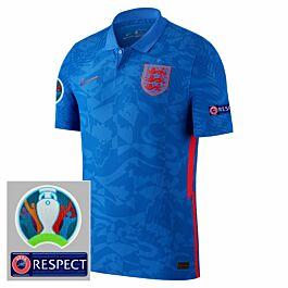 20-21 England Vapor Match Away Shirt + Official Euro 2020 Patches