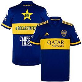 adidas Boca Juniors Home 69 #Bocaestafeliz Jersey 2020-2021