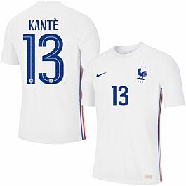 20-21 France Vapor Match Away Shirt + Kantè 13 (Official Printing)