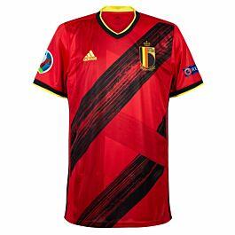 20-21 Belgium Home Shirt + Euro 2020 & Respect Patches