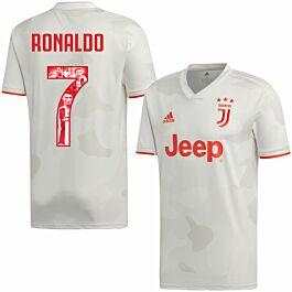 adidas Juventus Away Ronaldo 7 Jersey 2019-2020 (Gallery Style Printing)