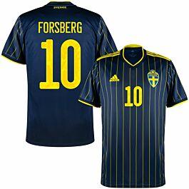 21-22 Sweden Away Shirt + Forsberg 10 (Official Printing)
