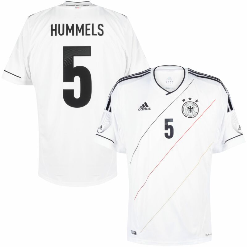 adidas Germany Home Hummels 5 Jersey adidas Friendly Match Patches 2012-2013 - NEW - Size L
