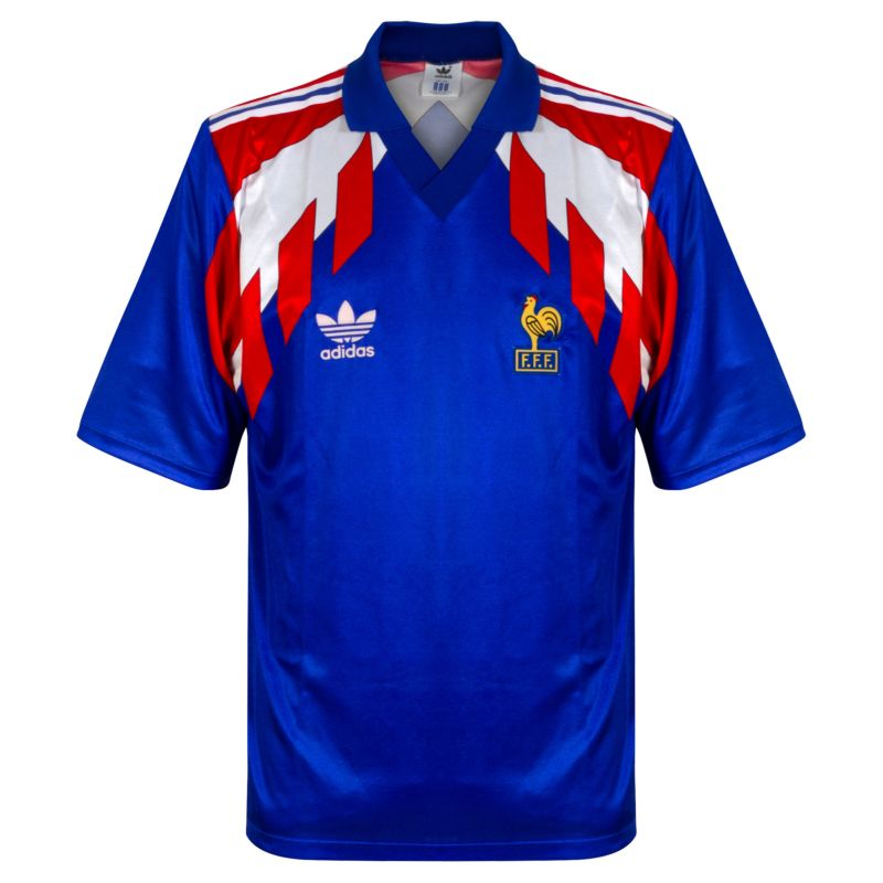 adidas France 1990-1991 Home Jersey S/S - USED Condition (Excellent) - Size XL