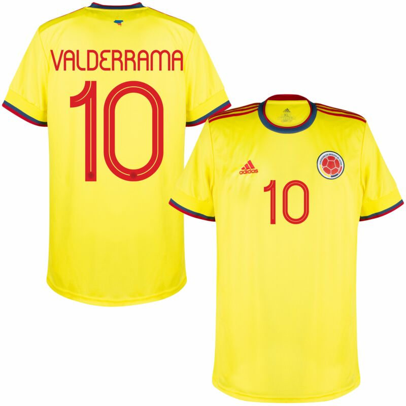 adidas Colombia Home Valderrama 10 Jersey 2021-2022 (Official Printing)