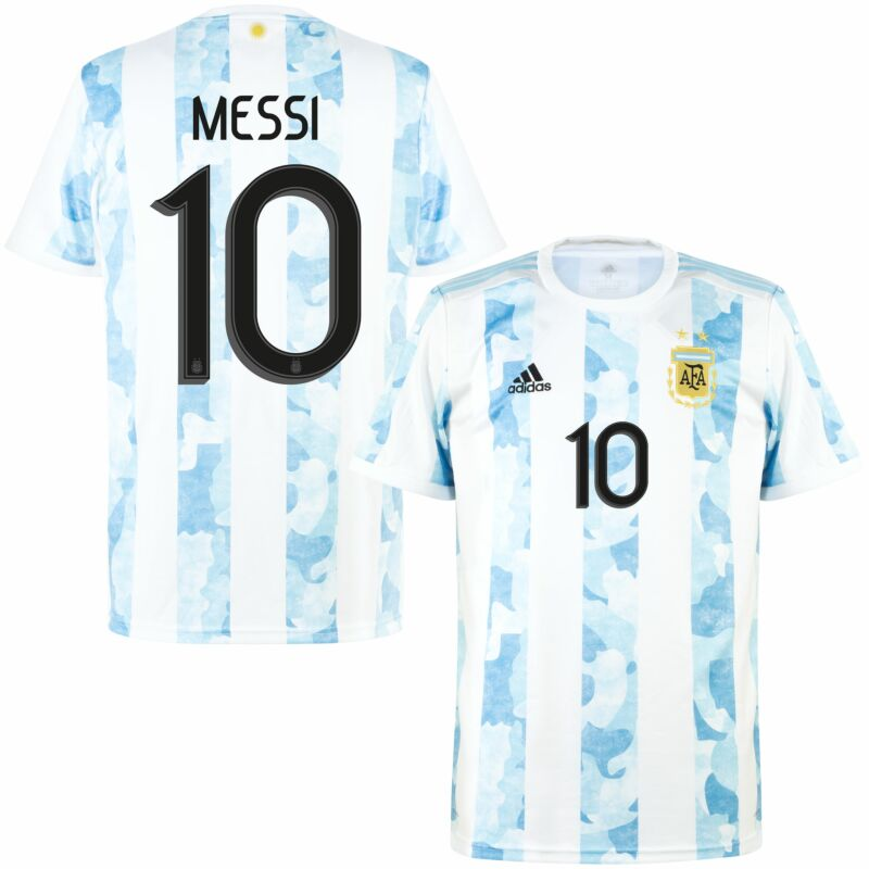 adidas Argentina Home Messi 10 KIDS Shirt 2021-2022 (Official ...