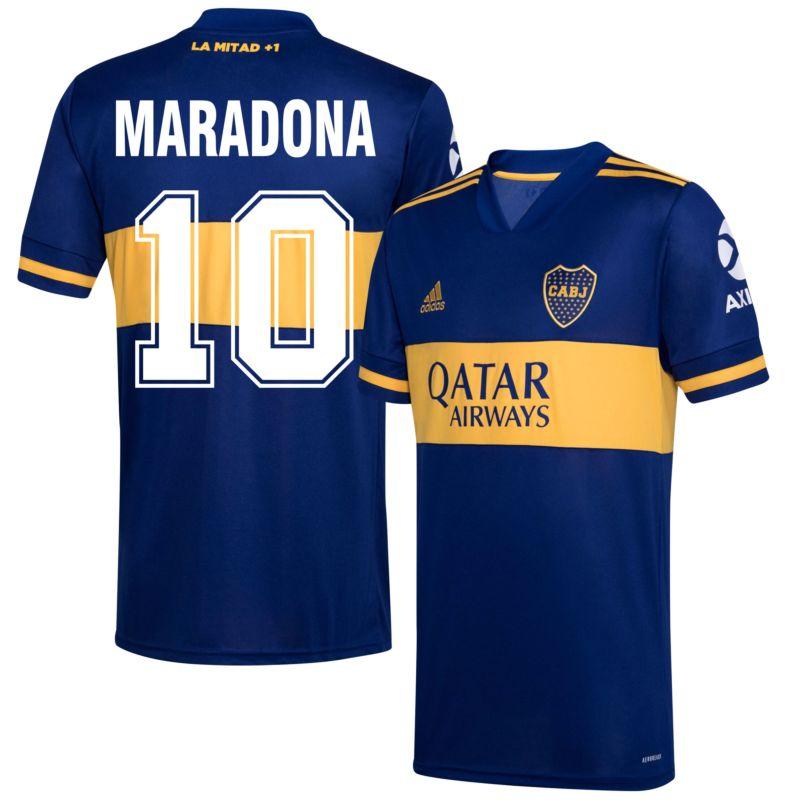 adidas Boca Juniors Home Maradona 10 Shirt 2020-2021 (Retro ...