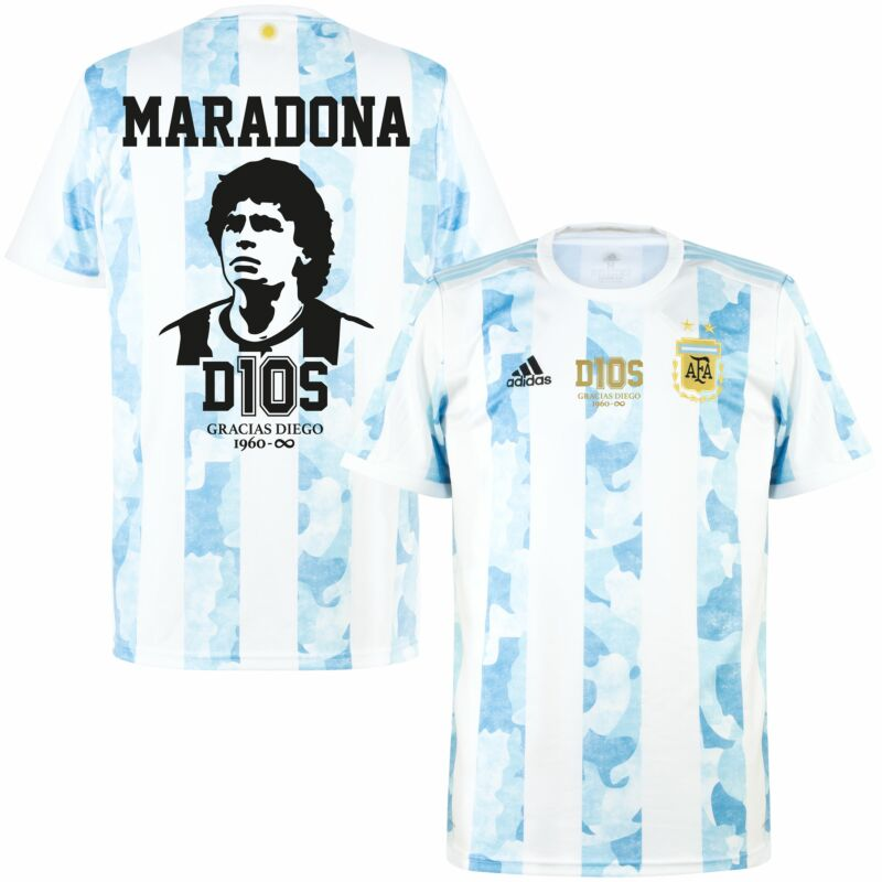 adidas Argentina Home Maradona Infinity Tribute Jersey 2021 inc ...