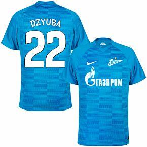 21-22 Zenit St Petersburg Home Shirt + Dzyuba 22 (Fan Style Printing)