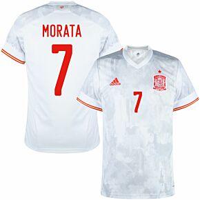 20-22 Spain Away Shirt + Morata 7 (Official Printing)