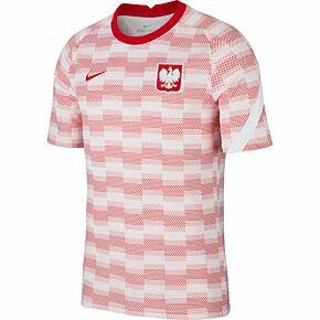 20-21 Poland Breathe PreMatch S/S Top - White/Red