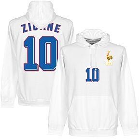 1998 Zidane 10 KIDS Hoodie - White