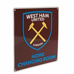 West Ham Changing Room Sign - (22cm x 25cm)