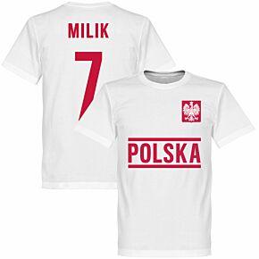 Poland Milik Team Tee - White