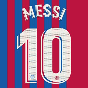 Messi 10 (Official Printing) - 21-22 Barcelona Home - KIDS