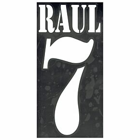 Raul 7 - 02-03 Real Madrid Away Flex Name and Number Transfer