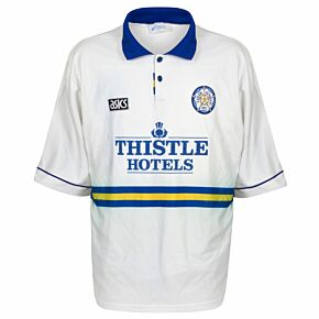 Asics Leeds United 1993-1995 Home Shirt - USED Condition (Fair) - Size XXL