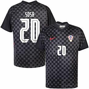 20-21 Croatia Away Shirt + Sosa 20 (Official Printing)