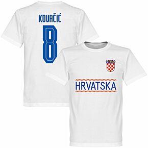Croatia Kovacic 8 Team T-shirt - White