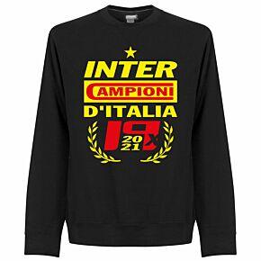 Inter 2021 Champions KIDS Sweatshirt - Black