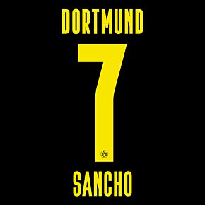Sancho 7 (Official Printing) - 20-21 Borussia Dortmund Away KIDS