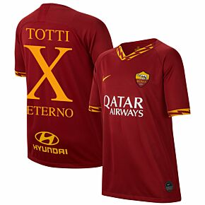 Nike AS Roma KIDS Home Totti Aeterno X Jersey 2019-2020 (Fan Style Printing)
