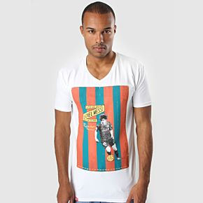 """Football Culture """"Messi"""" V-Neck Tee - White"""