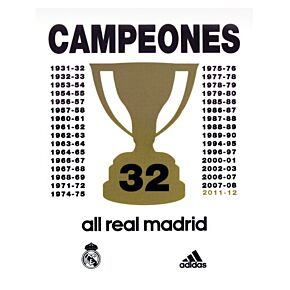 2012 Real Madrid Champions Special Edition Printing