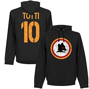 Roma Totti 10 Retro Hoodie - Black