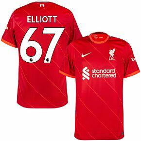 21-22 Liverpool Home Shirt  + Elliott 67 (Premier League)