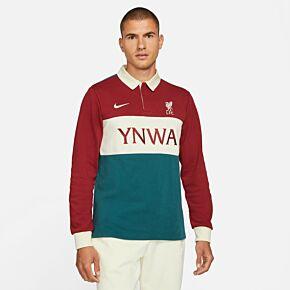 21-22 Liverpool L/S Polo Shirt - Red/Ecru/Green