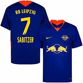 20-21 RB Leipzig Away Shirt + Sabitzer 7 (Official Printing)