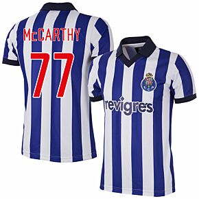 2002 FC Porto Home Retro Shirt + McCarthy 77 (Retro Flex Printing)
