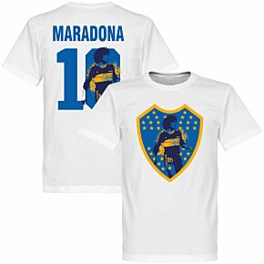 Maradona 10 Boca Crest Tee - White