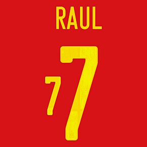 Raul 7 (Official Printing) - 20-21 Spain Home
