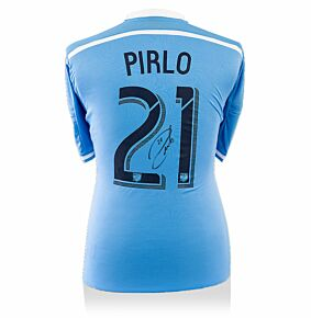 Andrea Pirlo Signed New York City 2016 Home Shirt (Back Signed)