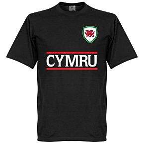 Cymru Team Tee - Black