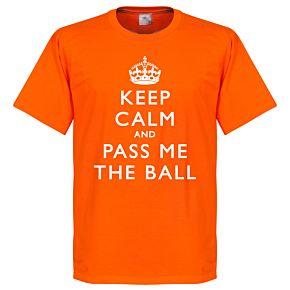 Keep Calm And Pass Me The Ball Tee - Orange