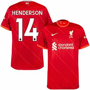 21-22 Liverpool Home Shirt + Henderson 14