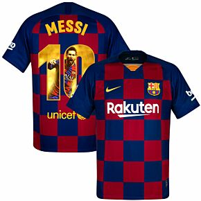 Nike Barcelona Home Messi 10 Jersey 2019-2020 (Gallery Style Printing)