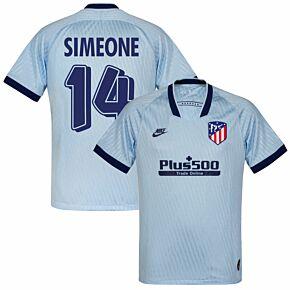 Nike Atletico Madrid 3rd Simeone 14 Jersey 2019-2020 (Retro Printing)