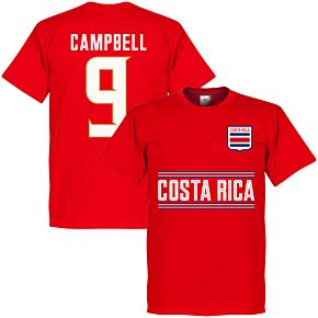 Costa Rica Campbell 9 Team Tee - Red