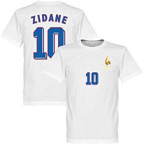 1998 France Zidane 10 Away KIDS Tee - White