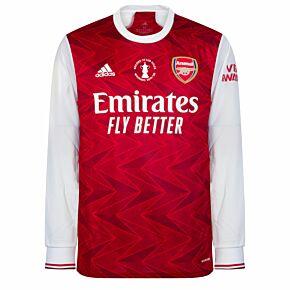 20-21 Arsenal Home L/S Shirt + FA Cup Winners Transfer 2020