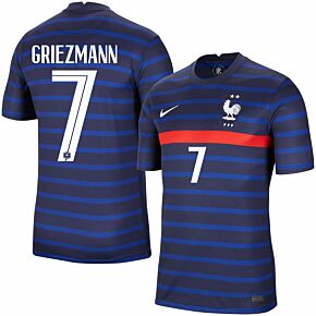 20-21 France Home Shirt + Griezmann 7 (Official Printing)