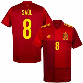 20-21 Spain Home Shirt + Saul 8