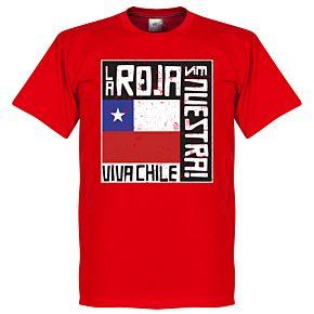 Chile La Roja Es Nuestra Tee - Red