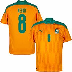 20-21 Ivory Coast Home Shirt + Kessié 8 (Fan Style)