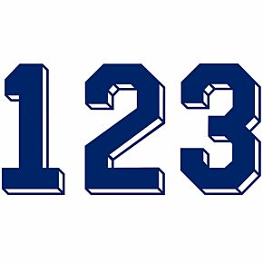 Retro Shadow Style Navy Numbers