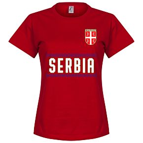 Serbia Team Womens Jersey - Red